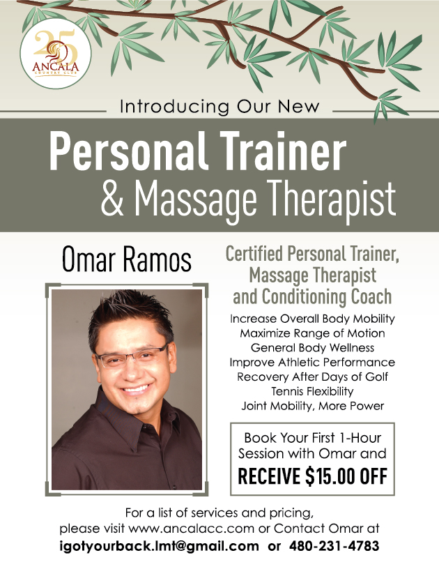 Omar Ramos - Personal Trainer & Massage Therapist. $15 off first 1-hour session. igotyourback.lmt@gmail.com