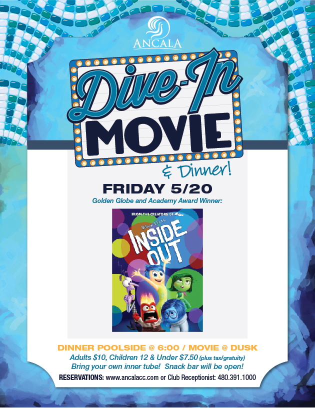 Dive in movie dinner ancala country club - Dive in movie ...