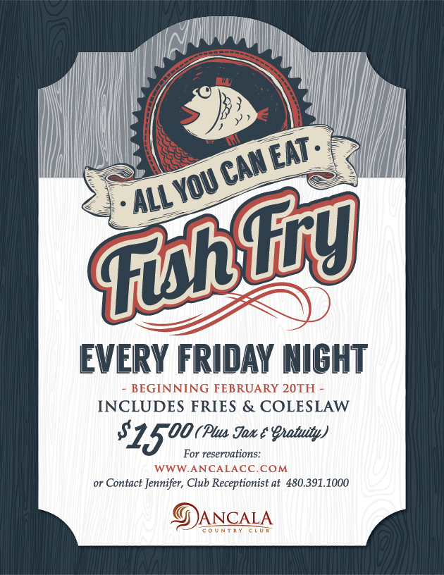 All you can eat fish fry ancala country club for All you can eat fish fry