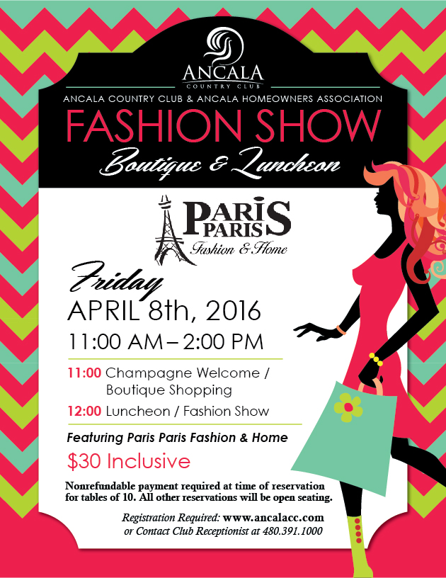 Fashion Show & Boutique Luncheon | Ancala Country Club | 2016-04-08